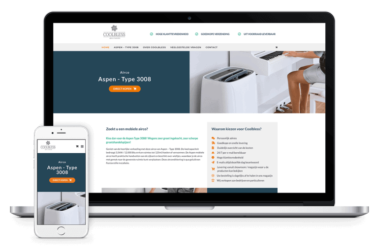 Webshop in mobiele airco's