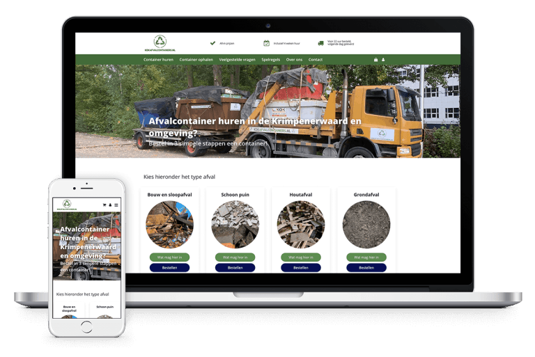 Webshop in afvalcontainers